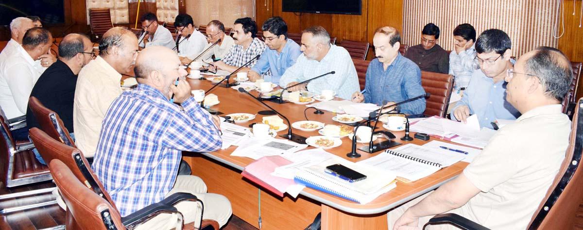 Principal Secretary, Planning Rohit Kansal chairing a meeting on Saturday.