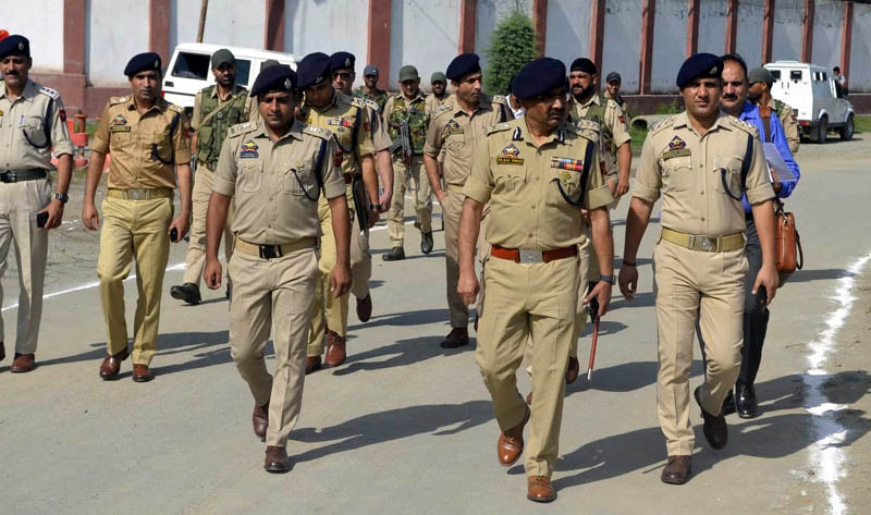 DGP Dilbagh Singh during South Kashmir tour on Tuesday.