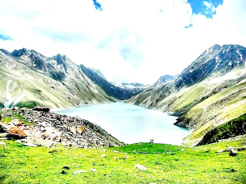 A view of Kounsar Nag lake.