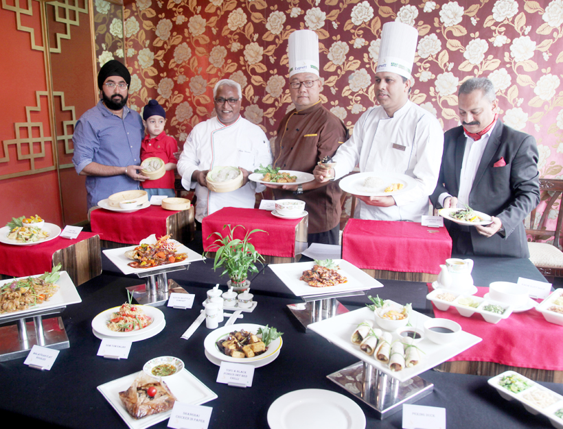 Chinese cuisines showcased by Chefs during launch of 'Horoscope Food Feast' at Yangtse in Cygnett Park Asia, Jammu. —Excelsior/Rakesh