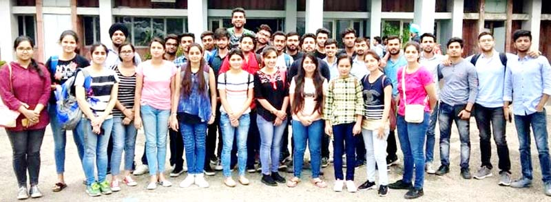 GCET, Jammu students who are undertaking advanced training at Chandigarh.