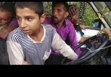 A minor boy driving Tata Sumo loaded with passengers, detained by DC Poonch near Sheen Dhara. - Excelsior/ Gurjeet