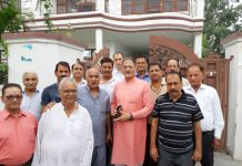 Former Deputy CM, Kavinder Gupta during his tour to Channi on Monday.