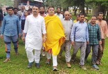 BJP leaders touring Chenani-Ramnagar areas on Saturday.