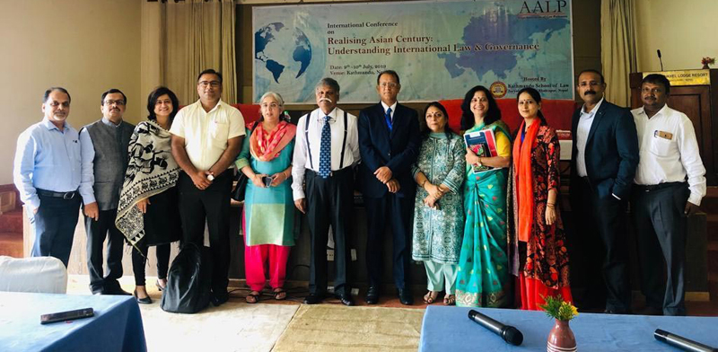JU faculty and founding members of Asian Association of Law Professors in the international conference at Kathmandu.