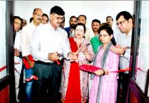 Advisor K Vijay Kumar inaugurating a project in GMC Jammu on Monday.