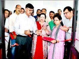 Advisor K Vijay Kumar inaugurating a project in GMC Jammu on Monday.