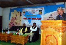 LBA President, P.T Kunzang addressing a seminar in Leh. -Excelsior/Morup Stanzin