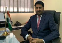 Balwant Thakur after taking over the charge of Cultural Diplomat of India to South Africa at Johannesburg.