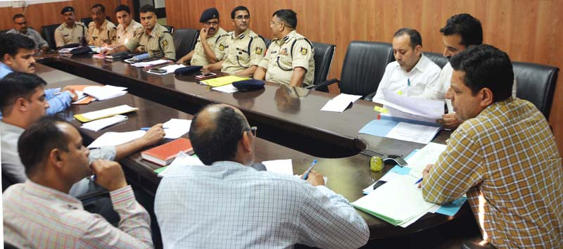 Divisional Commissioner Sanjeev Verma chairing a meeting at Jammu on Thursday.