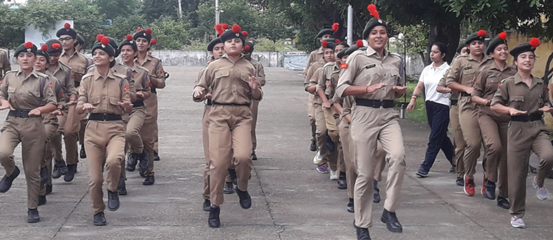 NCC cadets taking part in Annual Training Camp at Nagrota.