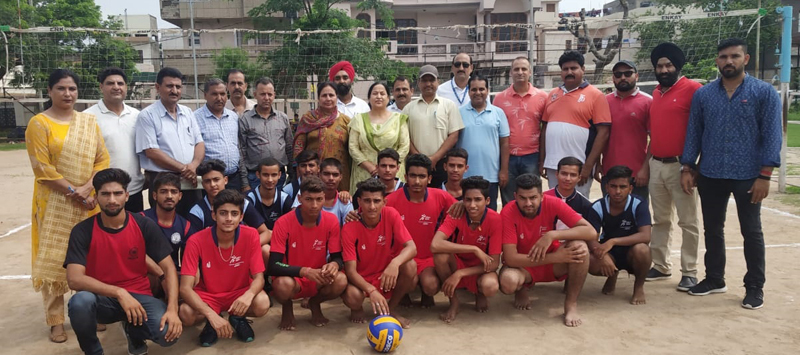 Players posing along with dignitaries and officials during inaugural ceremony of Inter-Zonal tournaments in Jammu.