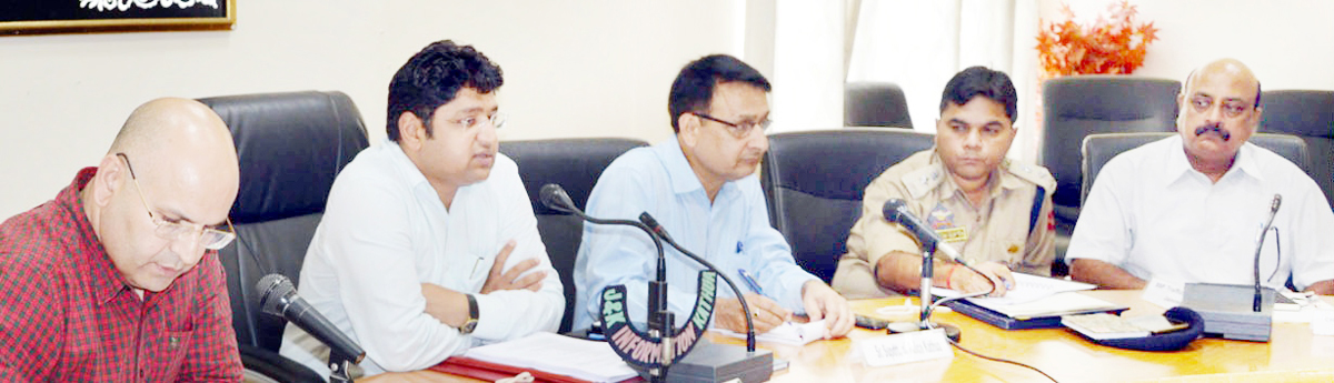 DC Kathua chairing a meeting on Wednesday.
