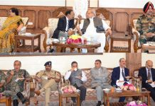 Governor Satya Pal Malik interacting with guests during Independence Day 'At Home' in Raj Bhawan.