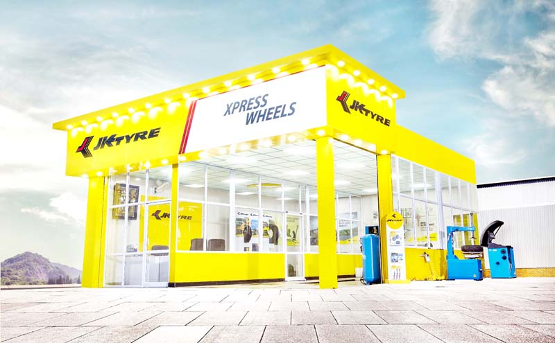 500th brand shop of JK Tyre Industry.