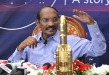 Indian Space Research Organization (ISRO) Chairman K Sivan addressing a press conference at ISRO headquarters in Bengaluru on Tuesday. successfully launched a spacecraft into lunar orbit to land on the moon. (UNI)