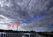 Panoramic view of Jammu City under the blanket of clouds on Saturday. —Excelsior/Rakesh