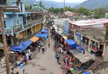 A view of Poonch City during relaxation in restrictions on Saturday. —Excelsior/Ramesh Bali