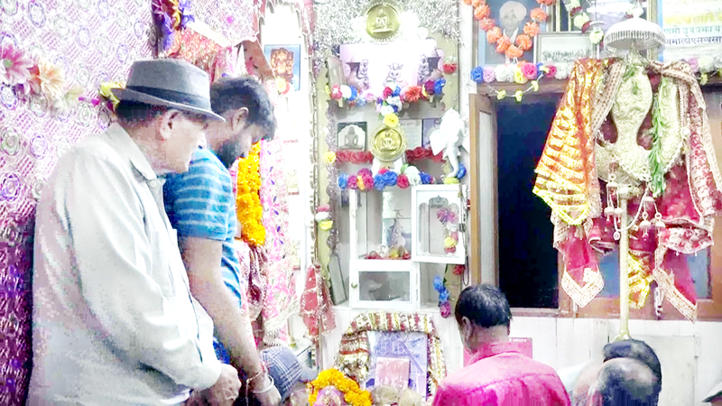 Devotees paying obeisance to holy mace of Machail Mata at Doda.