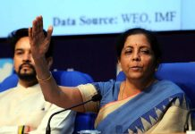 Union Finance Minister Nirmala Sitharaman addressing a press conference in New Delhi on Friday. (UNI)
