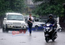 Rains lash Jammu on Friday morning. -Excelsior/Rakesh