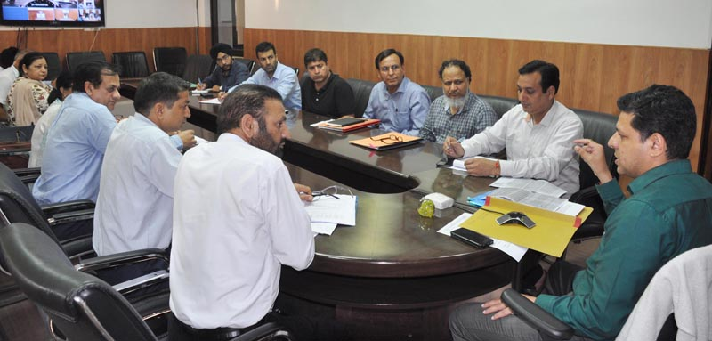 Divisional Commissioner Sanjeev Verma chairing a meeting on Tuesday.