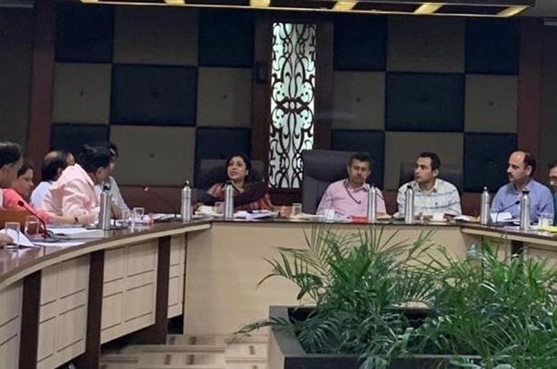 Jt Secy Industries, GoI chairing a meeting of J&K Industry stakeholders at Jammu on Tuesday.