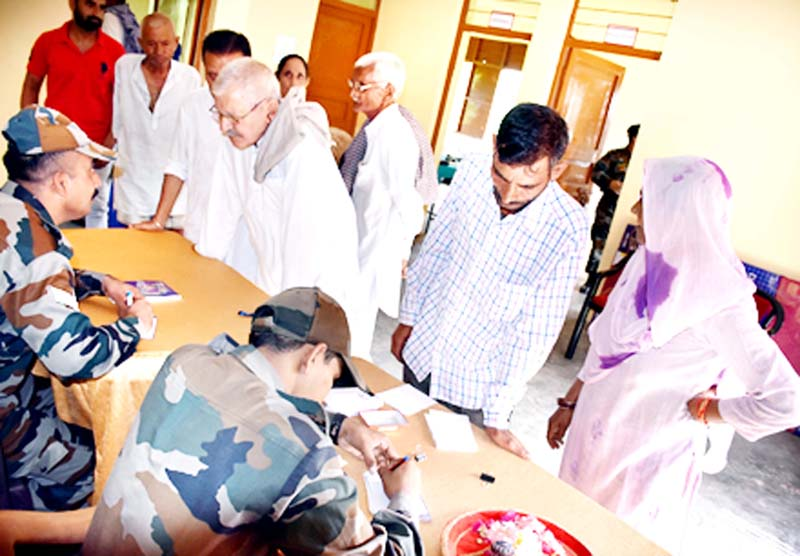People attending medical camp.