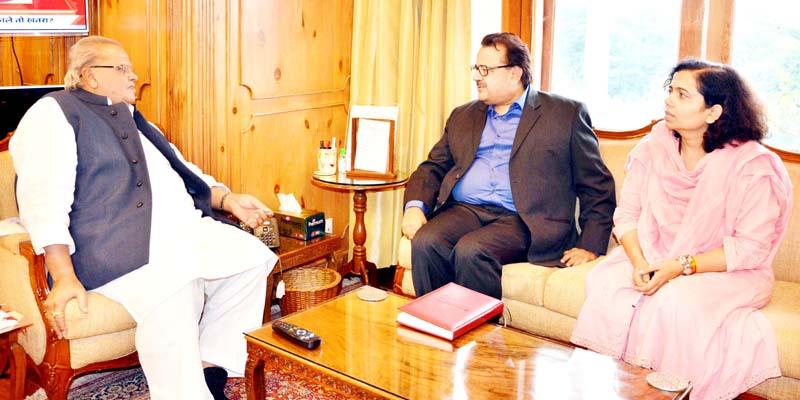 Governor meeting with Sailesh, Secretary, Ministry of Minority Affairs.