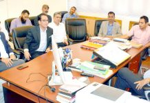 Principal Secretary I&C Department, Navin Kumar Choudhary chairing a meeting on Friday.