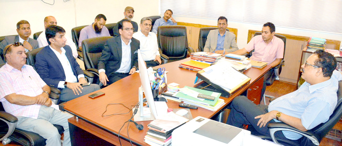 Principal Secretary I&C Department, Navin Kumar Choudhary chairing a meeting on Friday.