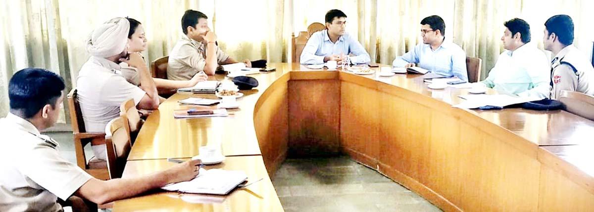Interstate coordination meeting at Shahpur Kandi in Punjab on Monday.