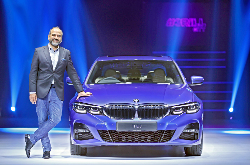 Rudratej Singh, President and Chief Executive Officer, BMW Group India launching all new BMW 3 Series in India.