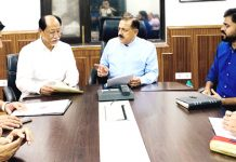 Chief Minister Nagaland, Neiphiu Rio holding a meeting with Union Minister Dr Jitendra Singh along with a high-level delegation of State officials, at New Delhi on Wednesday.