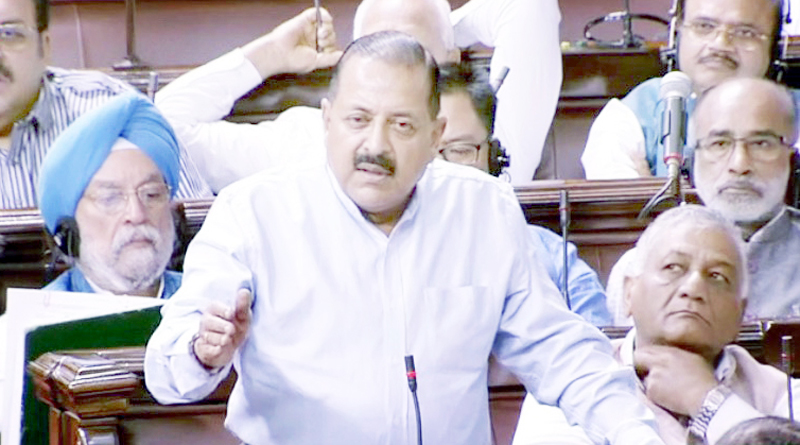 Union Minister, Dr Jitendra Singh speaking in Rajya Sabha on Monday.