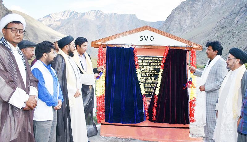 CEC Kargil inaugurating bridge on Saturday.