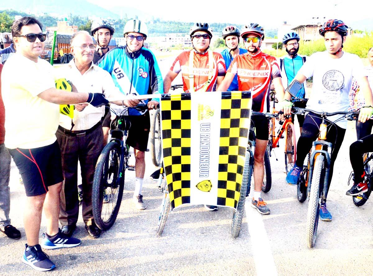 DDC Udhampur Dr Piyush Singla flagging off the cycle rally on Saturday.