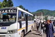 PoK guests remain stranded at Poonch as Pak refuses to open gates for cross-LoC bus on Monday. -Excelsior/Ramesh Bali
