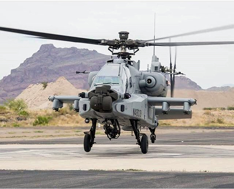 A view of Apache fighter jet.