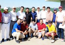 The members of Jammu Tawi Golfers Association posing for a group photograph on Sunday.