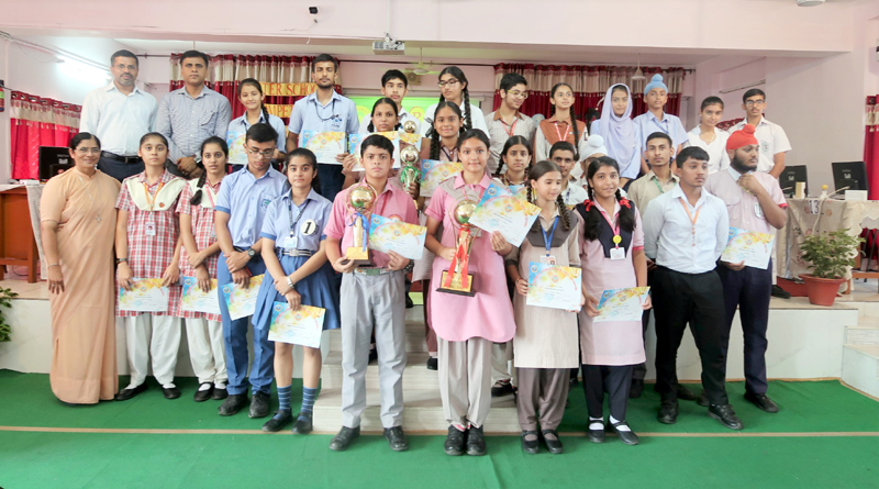 Winners of 9th District Jammu Rope Skipping Championship posing for a group photograph on Friday.