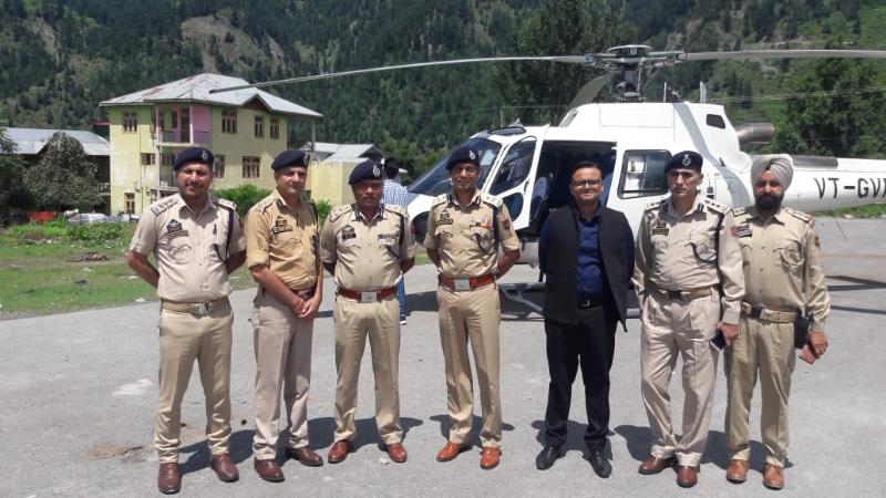 IGP Jammu Zone Mukesh Singh during visit to District Doda.