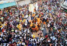 Janamashtami celebrations at Shastri Nagar, Jammu on Saturday. -Excelsior/Rakesh