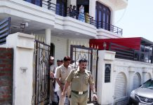 Police taking away media-persons from the house of Ex-PYC chief Pranab Shagotra in Jammu on Sunday. — Excelsior/Rakesh