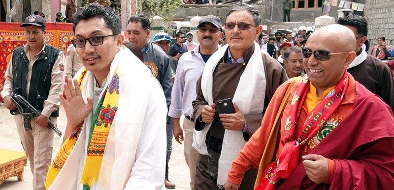 MP Ladakh, Jamyang Tsering Namgial at Aryan Festival held at Hanu Yogma in Leh.