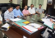 Deputy Commissioner Jammu, Sushma Chauhan chairing a meeting on Friday.