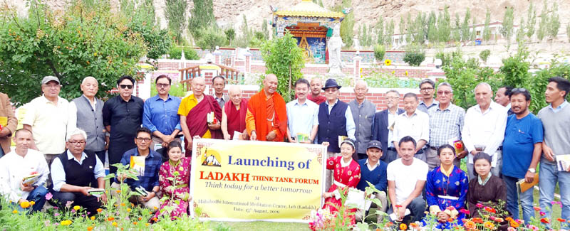 Intellectuals at the launch of Ladakh Think Tank Forum. -Excelsior/ Morup Stanzin