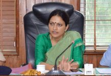Deputy Commissioner Sushma Chouhan chairing a meeting at Jammu on Saturday.