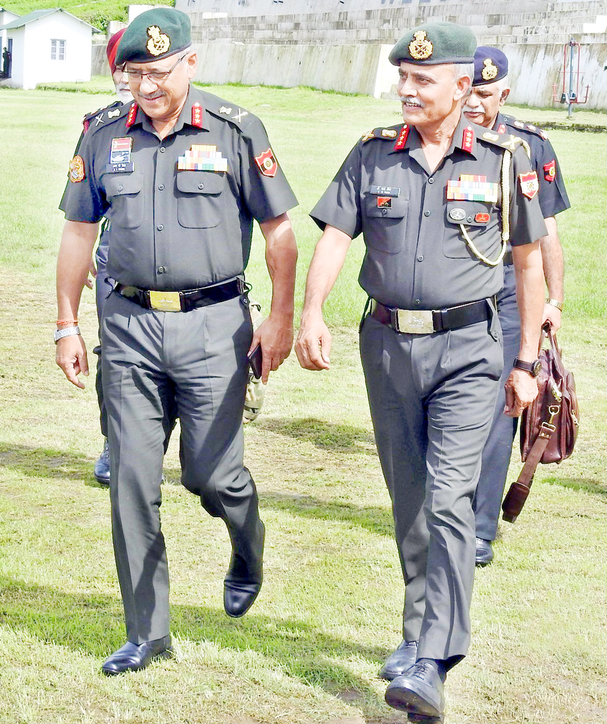 Western Command officiating commander Lt Gen R P Singh during his visit to Jammu on Saturday.