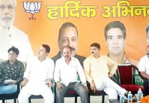 BJP national vice president, Avinash Rai Khanna addressing a meeting at Udhampur.